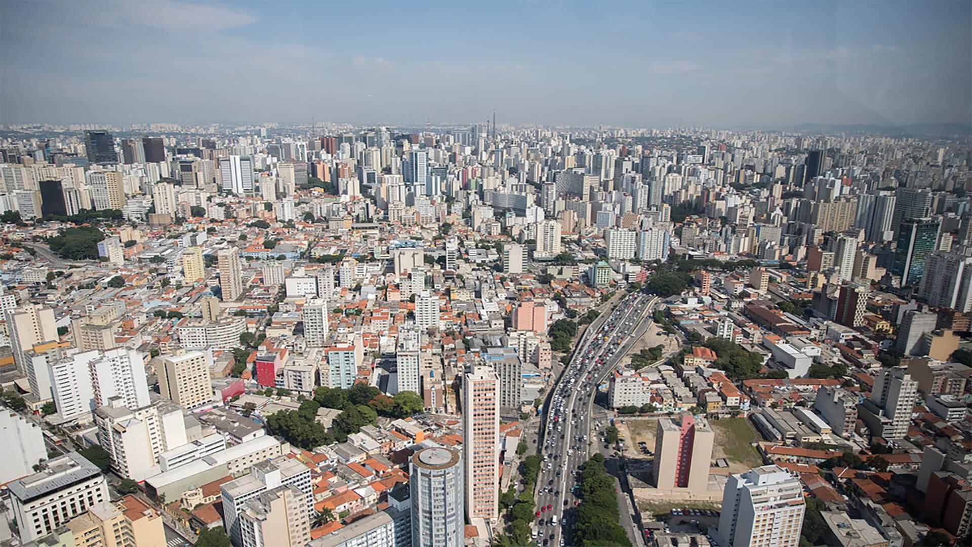 imagem aérea da cidade de São Paulo - SP