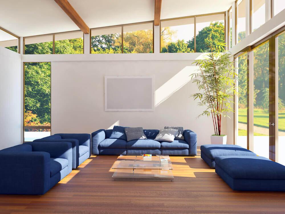 Sala de estar com boa incidência solar